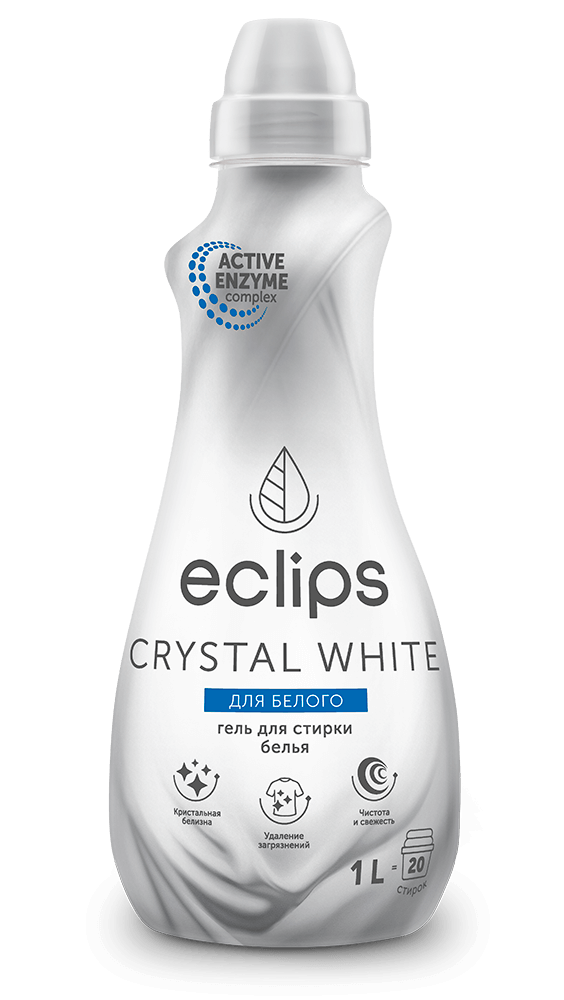 Гель для стирки белого белья Eclips Crystal White 1 л